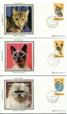 New Zealand 1983 Health - Cats - FDC - Benham Silk set Cover