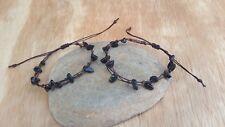 2 Handmade Onyx Stone  Bracelets