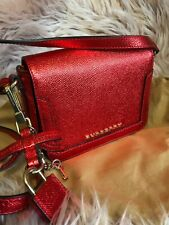 Aut Burberry Crossbody Bag Vibrant Red Rare Sold Out EVERYWHERE