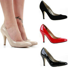 Ladies Party Smart Work Low Pumps Mid High Heels Prom Stiletto Court Shoes Size