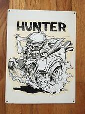 Hunter Surf Hot Rod Ford Wagon Surfboard Ed Roth 66 Vintage Poster Metal Sign