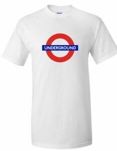 The Underground Logo Tee London Metro Railway Train England White T-shirt