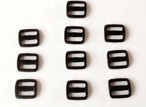 3 Bar Plastic Strap Buckle Adjuster 19,25,32,38,50mm Webbing Belt Strapping