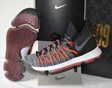 New $150 Nike Zoom KD9 KD 9 Elite Black/White/Grey/Hyper Orange sz 12 DS RARE