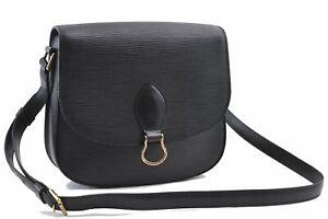 Auth Louis Vuitton Epi Saint Cloud GM Shoulder Cross Bag Black M52192 LV D4438