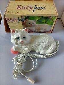 Kitty Fone Phone Cat telephone. Unique Rare Vintage Kitsch