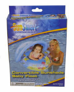 SunSmart Convertible SUNSHADE BABY FLOAT with 3 Ply Reinforced Vinyl Seat ~ NEW