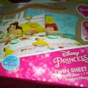 DISNEY PRINCES  Daydreams TWIN  SHEET Set  MICROFIBER  Super Soft