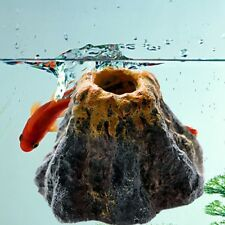 New Aquarium Volcano Shape&Air Bubble Stone Oxygen Fish Tank Ornament Decor