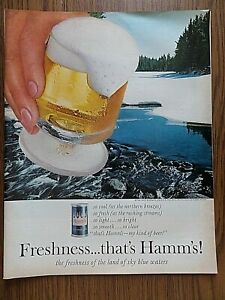 1964 Hamm's Beer Ad So Cool Fresh Light Smooth Freshness That's Hamm's