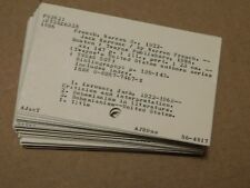 """Vintage School Library Catalog Cards Unique Craft Altered Art 3"""" x 5"""" lot of 50"""