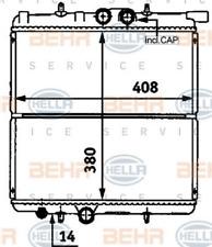 Kühler, Motorkühlung für Kühlung HELLA 8MK 376 718-251