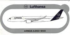 NOUVEAU NEW EXCLU !!! STICKER AUTOCOLLANT AIRBUS A350-900 LUFTHANSA  - Neuf