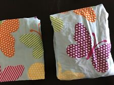 NEW TWIN  Fitted Sheet And 1 Pillowcase ONLY. Butterflies