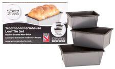 Bread Loaf Tins Set of 3 Non-stick Cake 1lb 2lb 3lb Pan Bake Baking Tray Tin UK