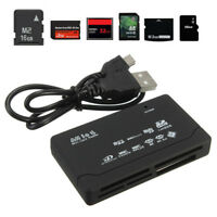 USB 2.0 All in One Multi Memory Card Reader CF SD SDHC MS TF M2 XD MMC New