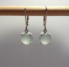 Sterling Silver Natural Chalcedony Lever Back Earrings *Variety Shapes & Colors*