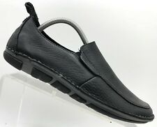 Hush Puppies Black Soft Leather Slip On Casual Comfort Shoes Men's 8.5 M