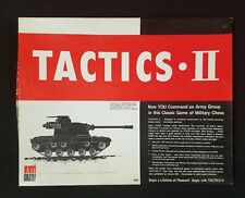 TACTICS II    Avalon Hill  Army Group War  Game  1973