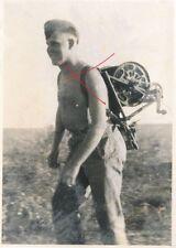 Nr 17969 3 x Foto 2. Weltkrieg Nachrichtentruppe Feldfernsprecher 33