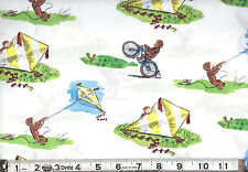 "CURIOUS GEORGE ""FLYING KITES"" - ONE YARD"