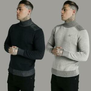 Mens SikSilk Sik Silk King Turtle Neck Sweatshirt Jumper Sweater Gym Fashion
