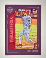 2021 Diamond Kings Base Plum Frame #85 Bryce Harper - Philadelphia Phillies