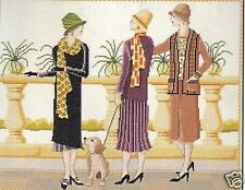Afternoon Tea Cross Stitch Kit Feauring 1920s Ladies by DMC