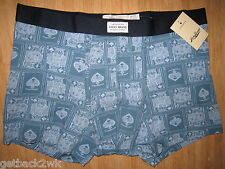 NEW Lucky Brand UNDERWEAR BOXER BRIEFS MENS M Blue King Ace of Spades $21 Retail