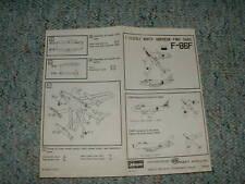 Hasegawa 1/72 F-86F Sabre  Instructions