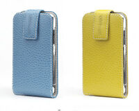 Contour Folio fits iPod Touch 2G 3G Color Leather Case Cover Holder Yellow Blue