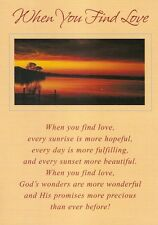 """Greeting Card - Love You - """"WHEN YOU FIND LOVE"""" - by Geon, Caring Moments!"""