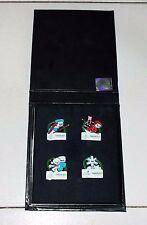 Box set 4 SPILLE Pins Mascotte Neve Gliz Olimpiadi Torino 2006 Olympics Games