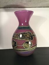 "VAL SAINT LAMBERT SIGNED  13"" ART GLASS VASE  ""RARE"" AND ABSOLUTELY BEAUTIFUL!"
