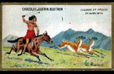 IMAGE Chromo CHOCOLAT GUERIN BOUTRON / CHASSE / INDIEN au GUANACO