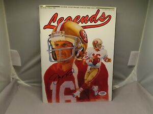 Joe Montana Signed Legends Magazine San Francisco 49ers Autographed PSA/DNA COA