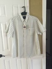 NWT Sport Shirt Saddlebred SS Big and Tall Yellow Plaid Easy Care Mens New XLT