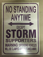 NRL Melbourne Storm No Standing Except Storm Supporters Sign Poster