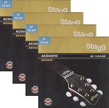 4x Gitarrensaiten Satz 012-054 Western Akustik Gitarre Bronze 12er Saiten Seiten