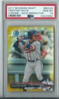 2017 CRISTIAN PACHE BOWMAN CHROME RC GOLD REFRACTOR BRAVES #'D  34/50 -- PSA 10