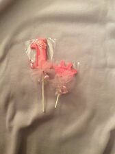 12-1st-Birthday Princess Chocolate Lollipops Custom decorated with tulle