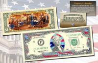 STARS & STRIPES FLAG HOLOGRAM Legal Tender $2 US Bill Currency w/ COLORIZED Back
