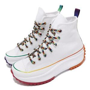 Converse Run Star Hike Hi Pride Rainbow White Men Unisex Casual Shoes 170824C
