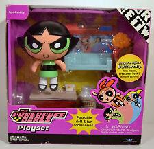 2001 Buttercup Mayor Ms Miss Sara Bellum Action Figure Playset Powerpuff Girls