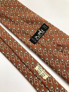 Hermes Paris Tie 7191 UA Silk 100%  Authentic 100% Made In France.