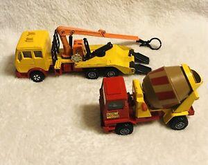 Matchbox Lesney Superkings Mercedes Log Truck K43/Bedford Concrete Truck