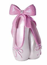 Girls Pink Ballet Shoe Glittery Piggy Bank Money Box