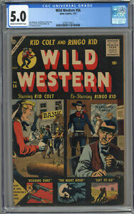 WILD WESTERN #56 CGC 5.0 CREAM TO OFF-WHITE PAGES 1957