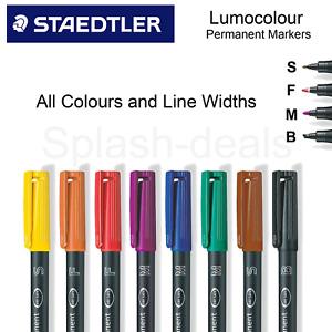 STAEDTLER Lumocolor Permanent Marker Pens - All Colours & Line Widths