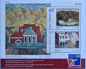 NEW ZEALAND #1597-1600a: VF MLH 'Paintings by Doris Lusk'